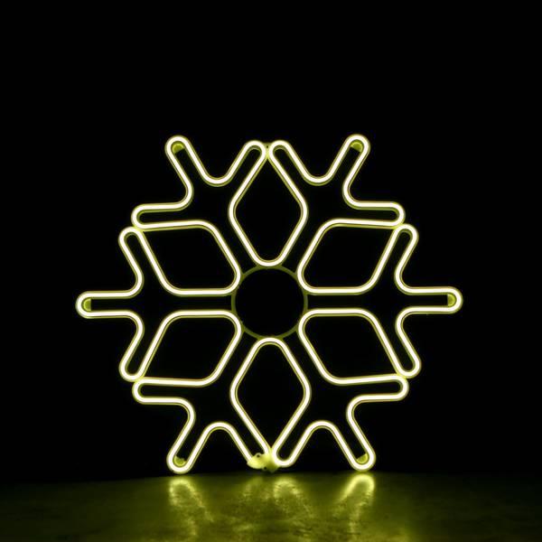 Bilde av Snøfnugg neon 60x60 cm varmhvit